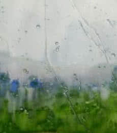 Cityscape Watercolor Art Painting title 'Rain On Glass Pane' by artist Bijay Biswaal
