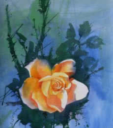 The Rose | Painting by artist Bijay Biswaal | watercolor | Paper