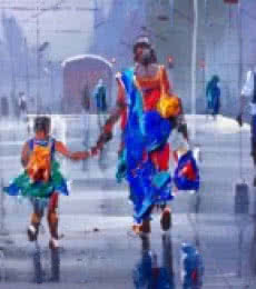 Wet Platform IV | Painting by artist Bijay Biswaal | acrylic | Canvas
