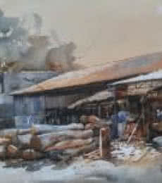 Woodmart | Painting by artist Bijay Biswaal | watercolor | Paper