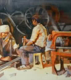 Workshop | Painting by artist Bijay Biswaal | watercolor | Paper