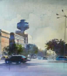 Ye Hai Mumbai Meri Jaan | Painting by artist Bijay Biswaal | watercolor | Canson Paper