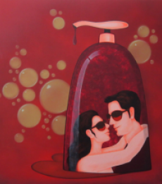 Socio Economic Love 1 | Painting by artist Praveen Nair | acrylic | Canvas