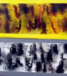 Figurative Acrylic Art Painting title 'Faces From Crowds' by artist Madan Lal