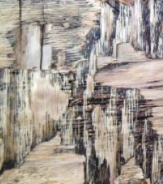 Abstract Mixed-media Art Painting title 'Wood Texture II' by artist Somen Debnath