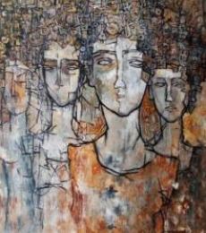 Rupchand Kundu | Acrylic Painting title Reflex Of Mind on Canvas | Artist Rupchand Kundu Gallery | ArtZolo.com