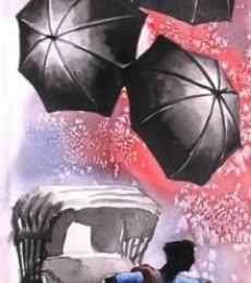 Monsoon I | Painting by artist Ananda Das | watercolor | Paper
