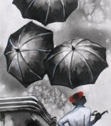Monsoon II | Painting by artist Ananda Das | watercolor | Paper