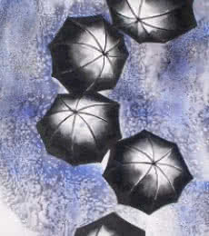 Monsoons | Painting by artist Ananda Das | mixed-media | Paper