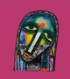 Figurative Acrylic Art Painting title Dark to Bright by artist Arun K Mishra