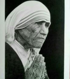 #motherteresa #pencilsketch #potrait #drawing
