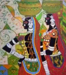 Serene Harmony - 48 | Painting by artist Anuradha Thakur | acrylic | Canvas