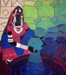 Serene Harmony - 31 | Painting by artist Anuradha Thakur | acrylic | Canvas