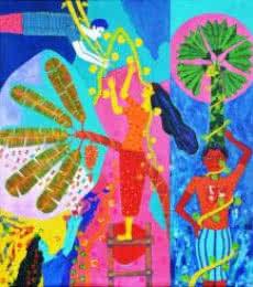 Gayatri Artist | Acrylic Painting title Chronicle Of The Ecstasies3 Copy on Canvas | Artist Gayatri Artist Gallery | ArtZolo.com