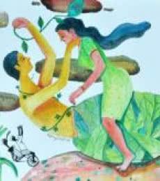 Figurative Watercolor Art Painting title History 8 by artist Gayatri Artist