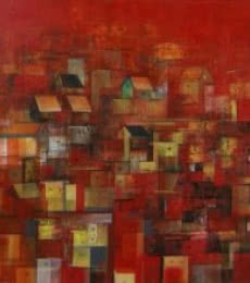 The Houses   Painting by artist M Singh   acrylic   Canvas