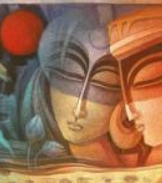 Egyptian King and Queen IV | Painting by artist Nityam Singha Roy | acrylic | Canvas