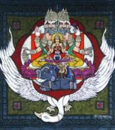 Muladhara Chakra | Mixed_media by artist Kunuku Bhushayya | Canvas
