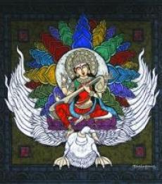 Kunuu Bhushayya | Sahasrara Chakra Copy Mixed media by artist Kunuu Bhushayya on Canvas | ArtZolo.com