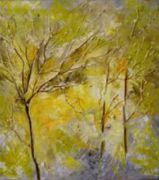 Bahadur Singh | Oil Painting title Autumn Falls on Canvas | Artist Bahadur Singh Gallery | ArtZolo.com