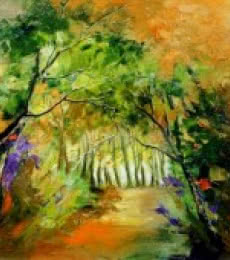 Inside Nature | Painting by artist Bahadur Singh | oil | Canvas