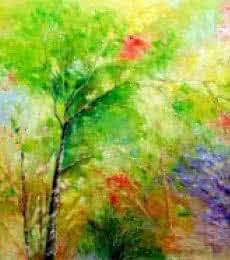 Landscape Oil Art Painting title 'Nature 4' by artist Bahadur Singh