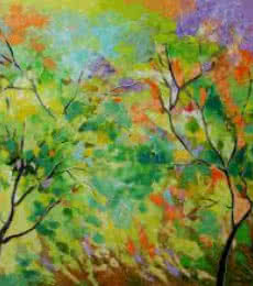 Nature Colors | Painting by artist Bahadur Singh | oil | Canvas