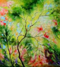 Nature Green I | Painting by artist Bahadur Singh | oil | Canvas