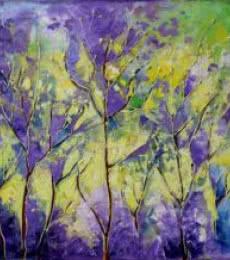 Purple Haze | Painting by artist Bahadur Singh | oil | Canvas