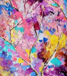 Nature Oil Art Painting title 'Seasons XI' by artist Bahadur Singh