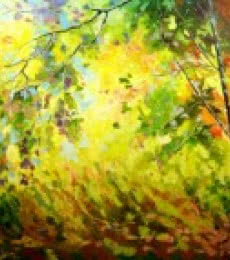 Landscape Oil Art Painting title 'Seasons 4' by artist Bahadur Singh