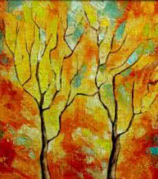 Nature Oil Art Painting title 'Season Orange' by artist Bahadur Singh