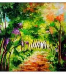 The Path Through Change III | Painting by artist Bahadur Singh | oil | Canvas