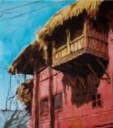 Aab Rang Kashmir 17   Painting by artist Suhail Naqshbandi   watercolor   Paper