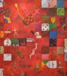 Saurab Bhardwaj | Acrylic Painting title Ascent (Game) on Canvas | Artist Saurab Bhardwaj Gallery | ArtZolo.com