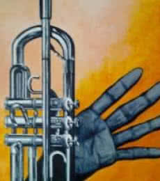 Trumpet | Painting by artist Saurab Bhardwaj | oil | Canvas