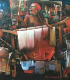 For Discover   Painting by artist Chandranath Banerjee   acrylic   Canvas