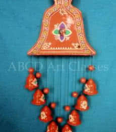 Flower Bells Wind Chime | Terracotta Clay Handicraft | By ABCD- Any Body Can Draw Art Classes
