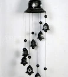 Long Hanging Wind Chime   Terracotta Clay Handicraft   By ABCD- Any Body Can Draw Art Classes