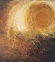Abstract Acrylic Art Painting title 'Abstract Sun' by artist Sanjay Akolikar