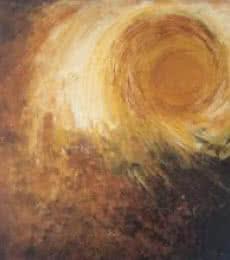 Abstract Sun | Painting by artist Sanjay Akolikar | acrylic | Canvas