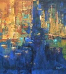 Composition - 10 | Painting by artist Sanjay Akolikar | acrylic | Canvas