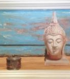 Serenity 7 | Painting by artist Rishi Kapil | oil | Linen