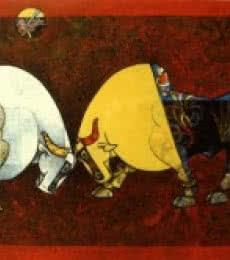 Celebration XIV   Painting by artist Dinkar Jadhav   acrylic   Canvas