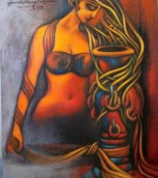 Love | Painting by artist Hamlet Shougrakpam | Acrylic | Canvas