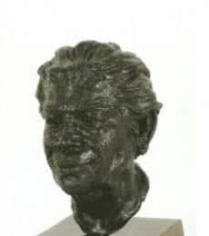 Hiralal Rajasthani | Portrait Of Ramkinkar Baij Sculpture by artist Hiralal Rajasthani on Fiber Glass | ArtZolo.com