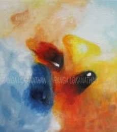 Mixed Media Painting titled 'High Sprits' by artist Ranga Naidu on Canvas