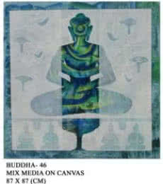Buddha 46 | Painting by artist Anurag Jadia | mixed-media | Canvas