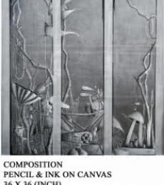 Composition   Drawing by artist Trapti Gupta      pencil   Canvas