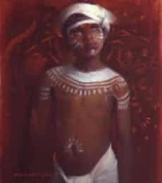 Hunter I | Painting by artist Pramod Kurlekar | oil | Canvas